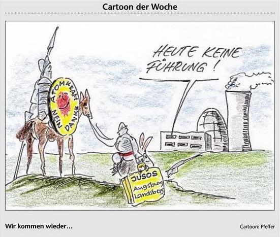 Karikatur zum Besuch des AKW